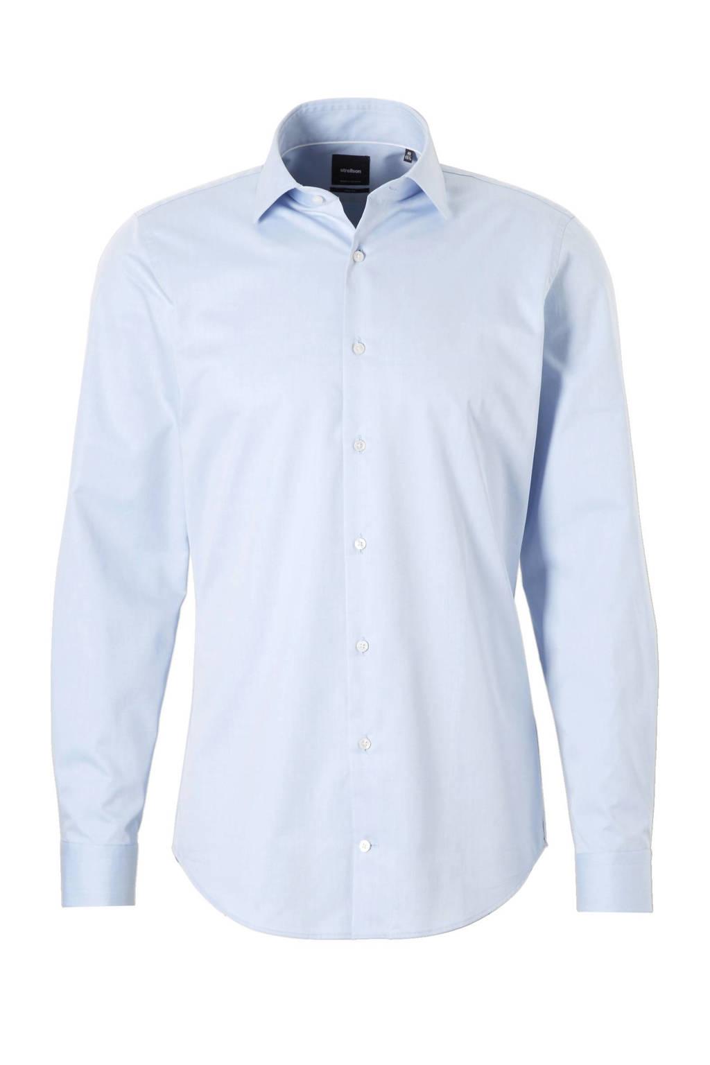 Strellson slim fit overhemd, Lichtblauw