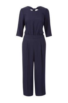 cropped jumpsuit donkerblauw