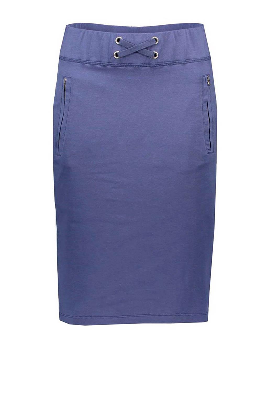 La Ligna rok met zijstreep blauw, Blauw