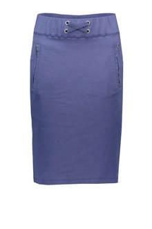 rok met zijstreep blauw
