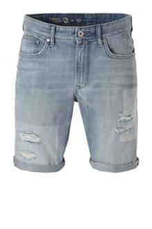 Angelo Litrico jeans short met slijtage details