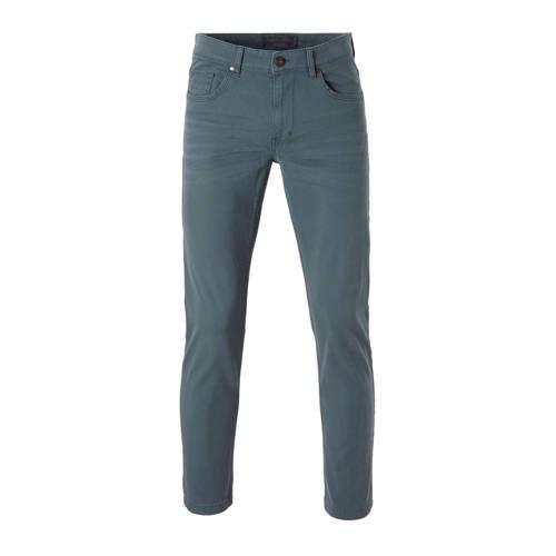 slim fit broek grijsblauw