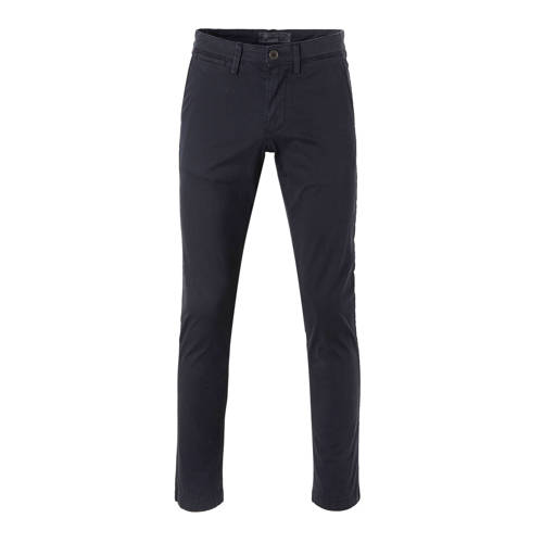slim fit chino marineblauw