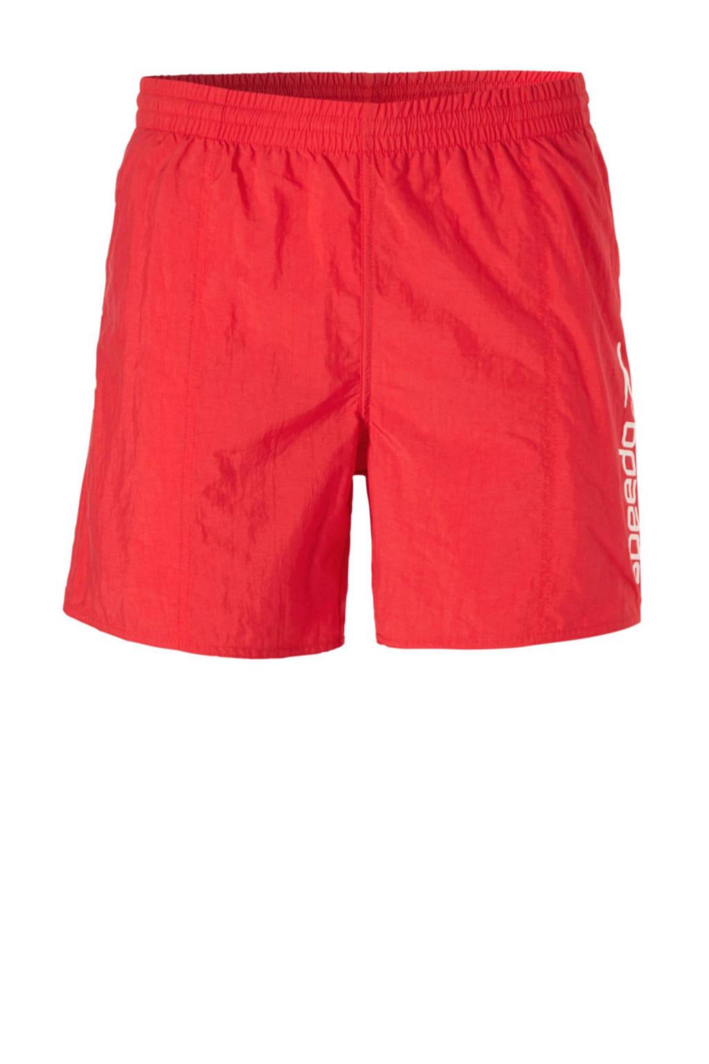 Speedo zwemshort met printopdruk rood, Rood/wit