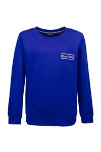 Marc O'Polo sweater met logo blauw, Blauw