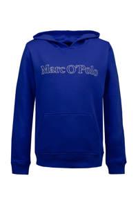 Marc O'Polo hoodie met logo blauw, Blauw