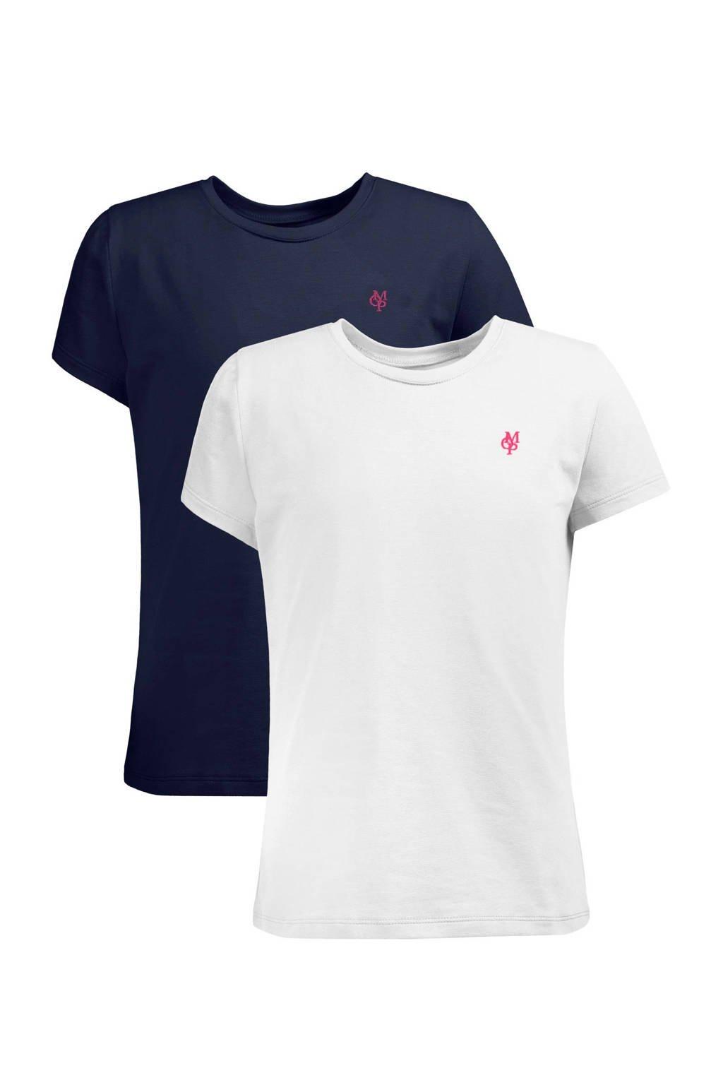 Marc O'Polo T-shirt - set van 2, Donkerblauw/wit