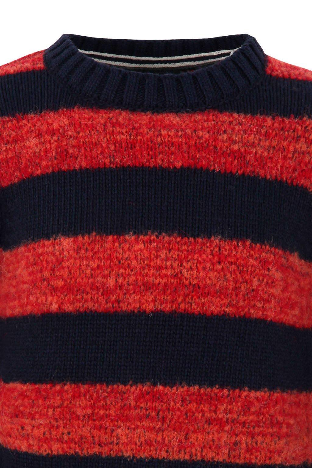 Rood Blauw Gestreepte Trui.Marc O Polo Gestreepte Trui Met Wol Rood Blauw Wehkamp
