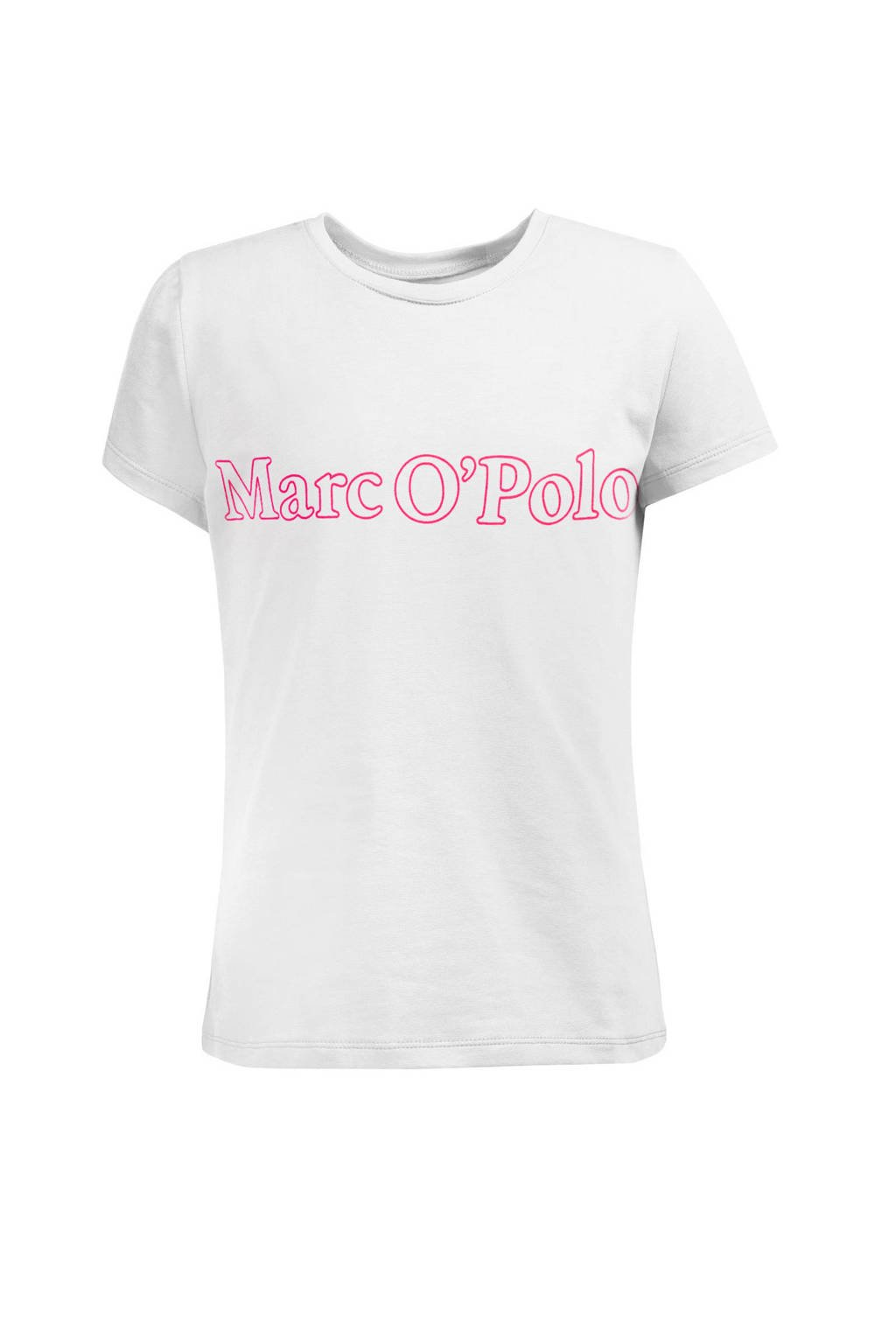 Marc O'Polo T-shirt met logo wit, Wit