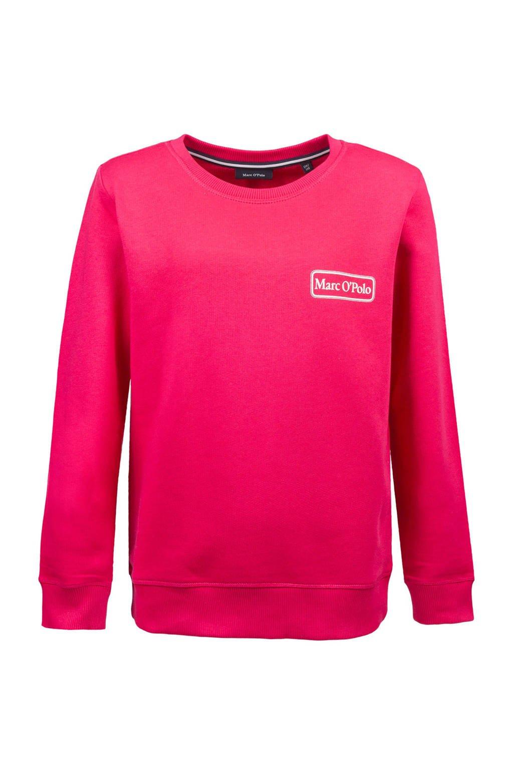 Marc O'Polo sweater met logo roze, Roze