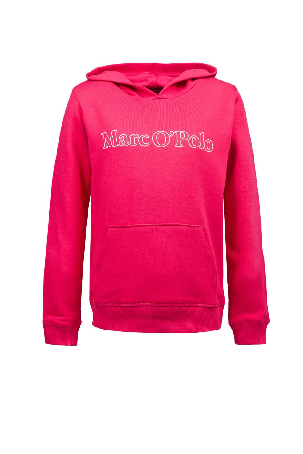 Marc O'Polo hoodie met logo roze, Roze