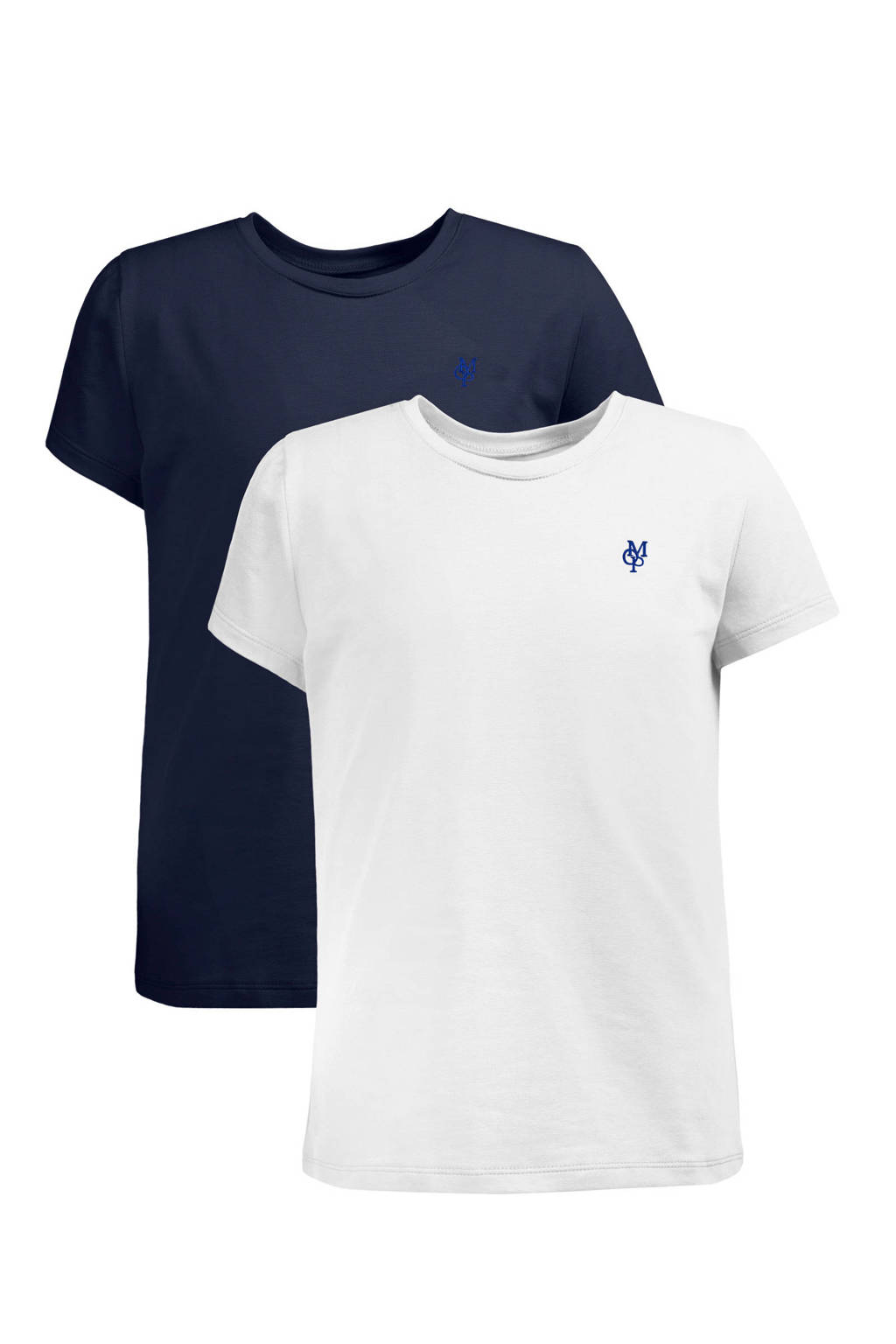 Marc O'Polo T-shirt met korte mouwen (set van 2), marine/ wit