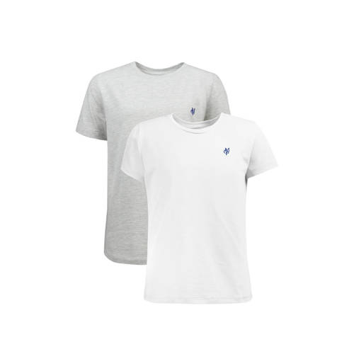 Marc O'Polo T-shirt - set van 2 wit/grijs