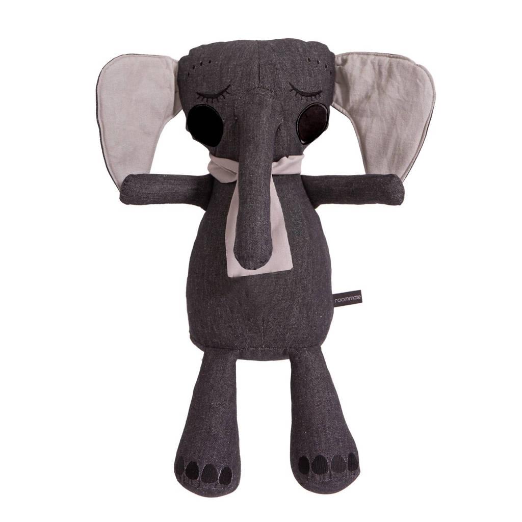 Roommate Elephantpop antraciet knuffel 50 cm, Antraciet