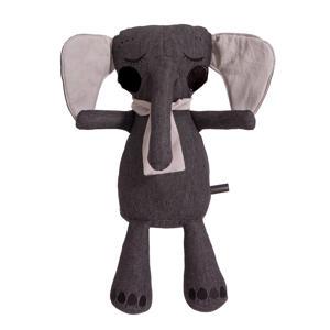 Elephantpop antraciet knuffel 50 cm