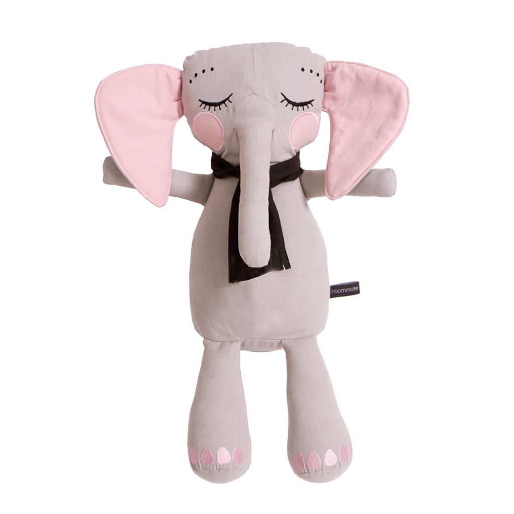 Roommate Elephantpop grijs knuffel 50 cm, Grijs