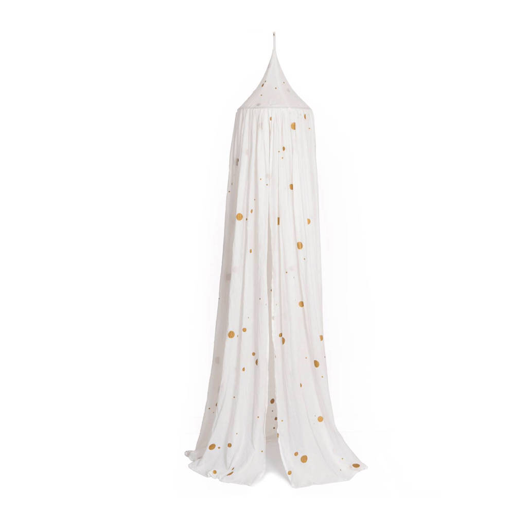Roommate klamboe off-white gold dots, Gold/off-white