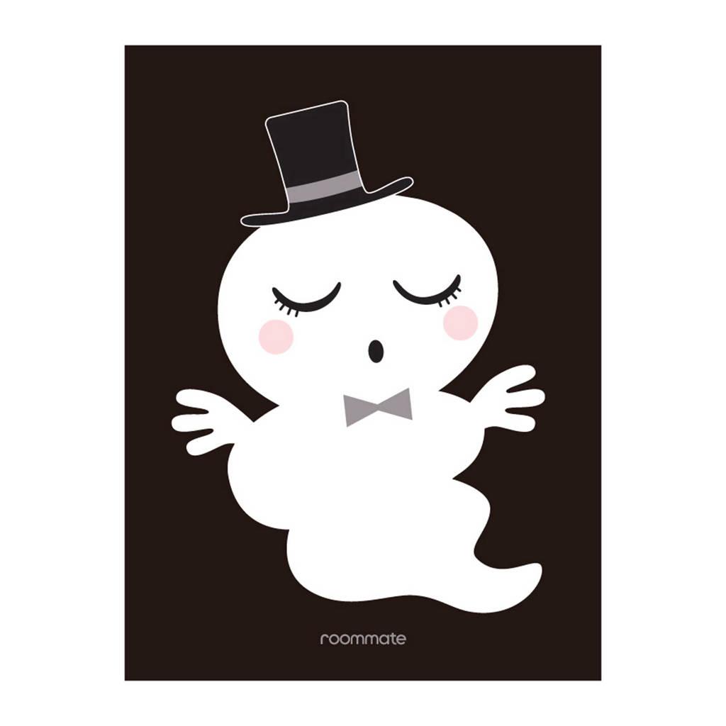 Roommate Mister ghost poster, Zwart/wit