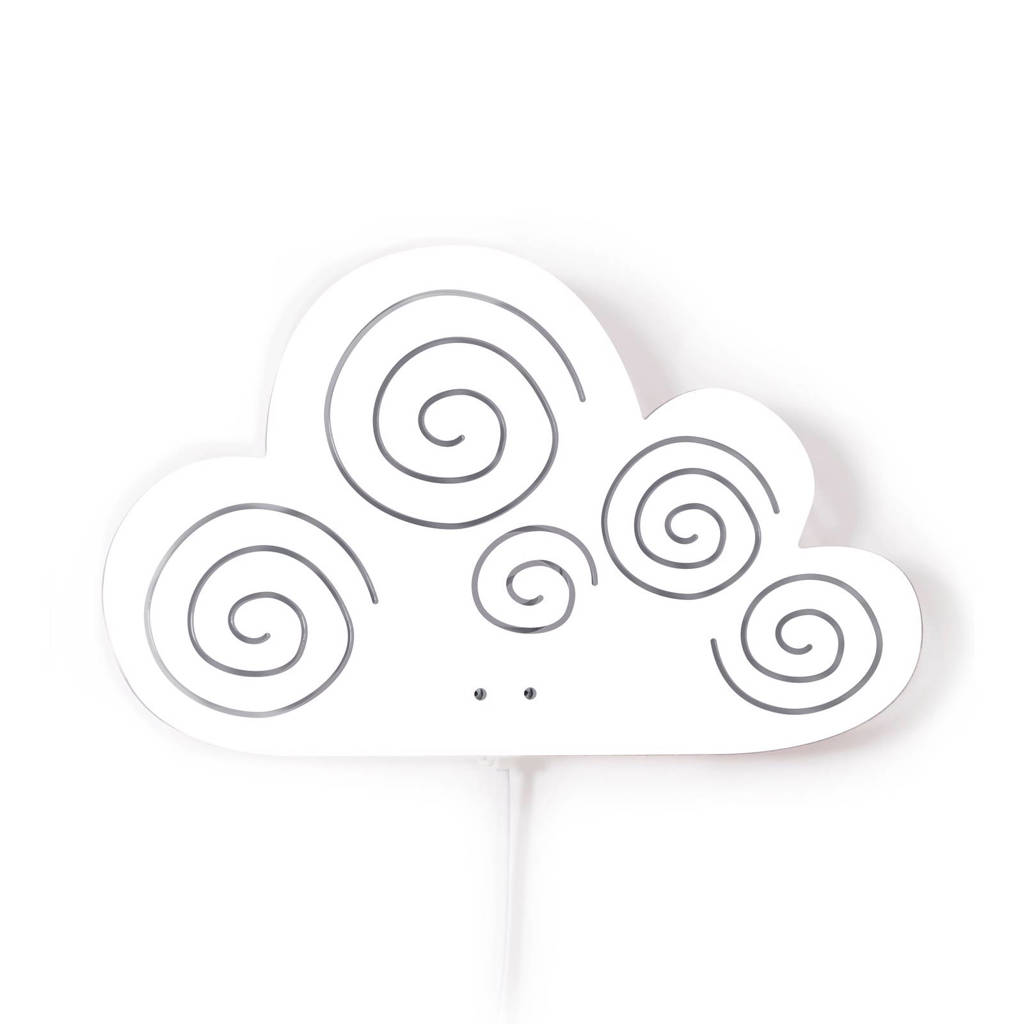 Roommate Cloud wandlamp wit, Wit