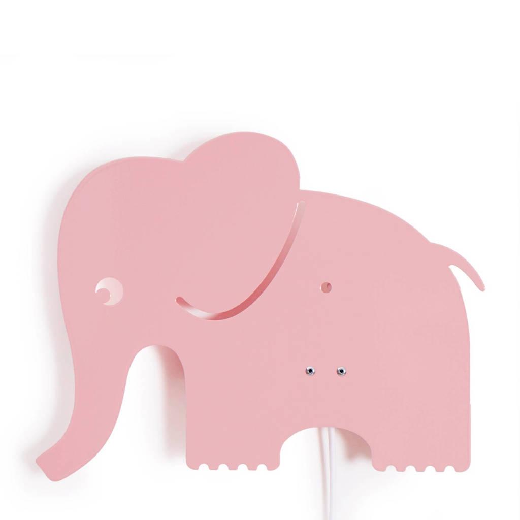 Roommate Elephant lamp roze, Roze