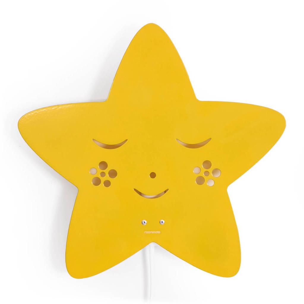 Roommate Star wandlamp geel, Geel