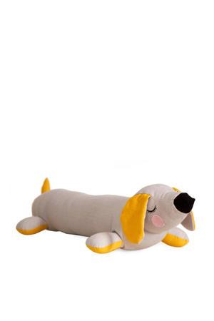 Lazy Dog kussen grijs