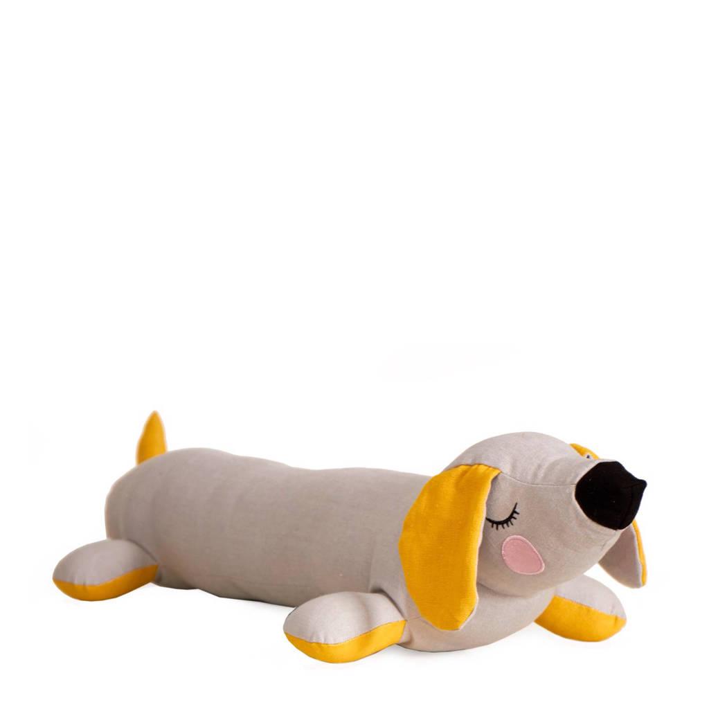 Roommate sierkussen Lazy Dog  (25x55 cm), Grijs