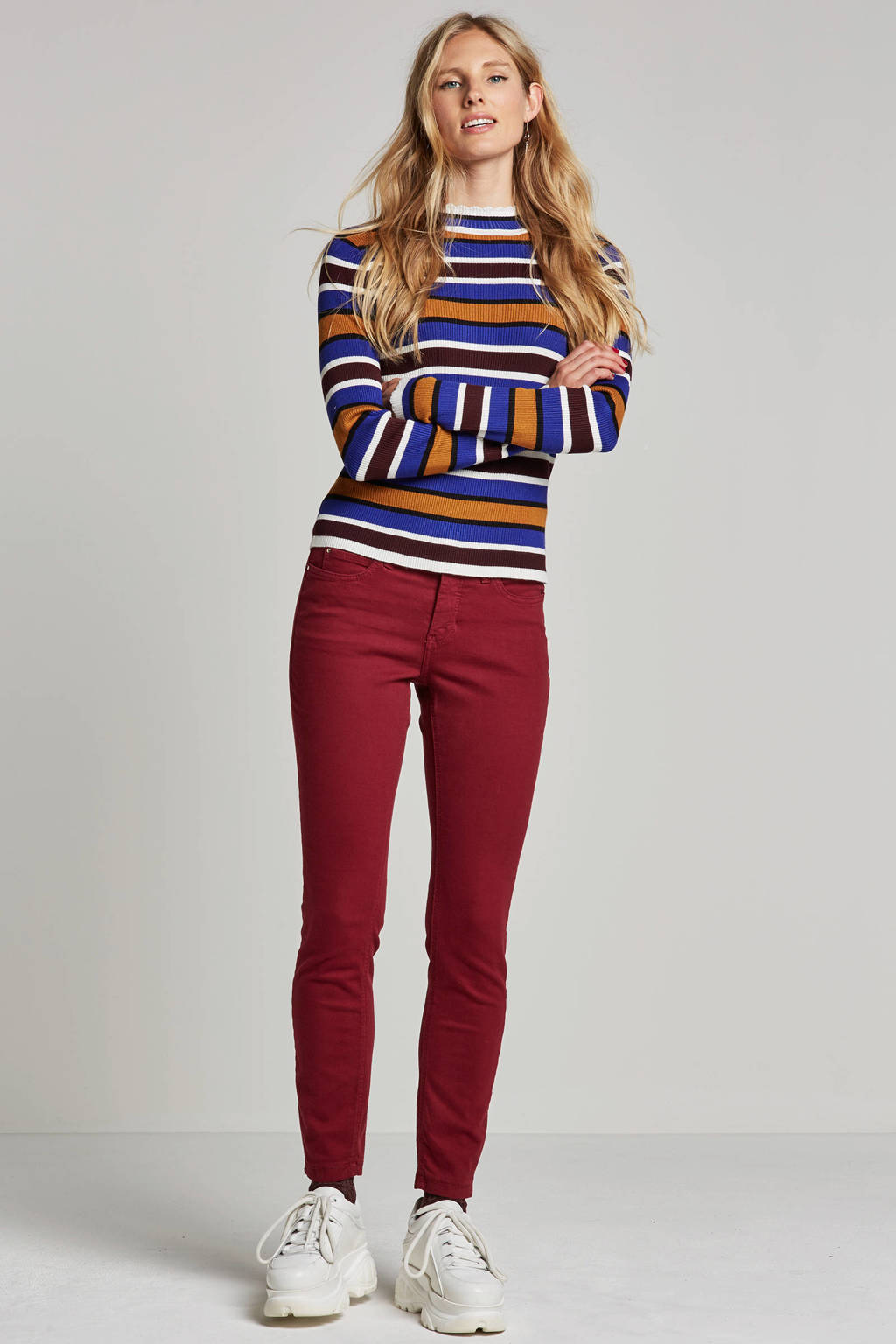 MAC Dream skinny fit jeans, Bordeaux