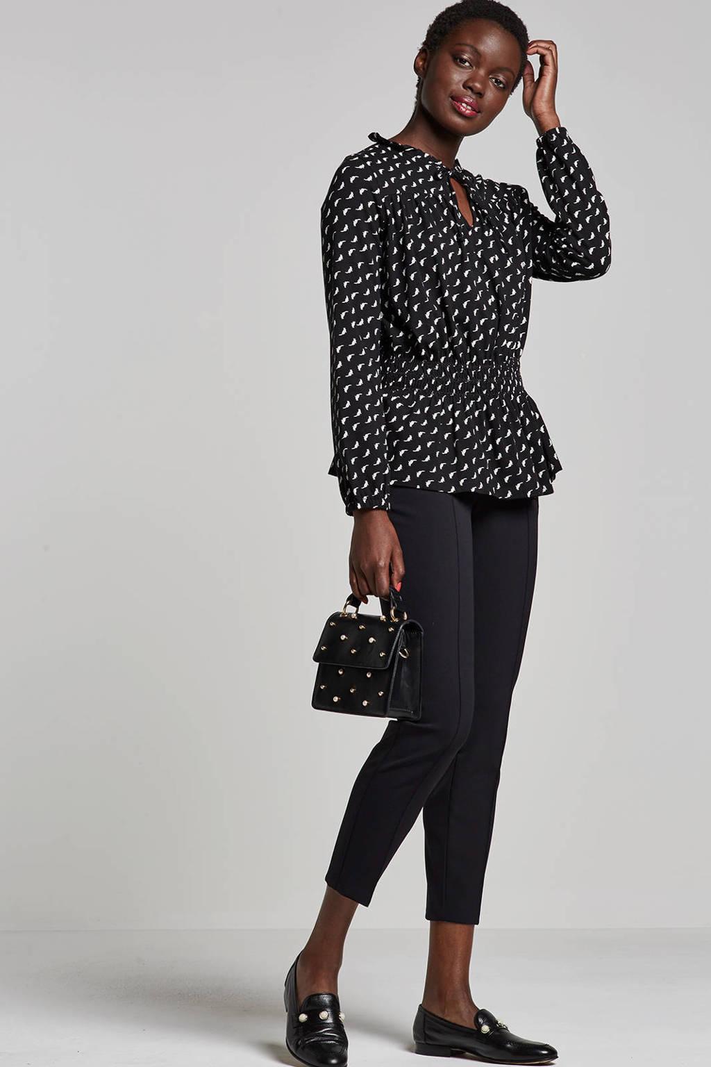 MAC Anna zip broek, Zwart