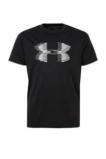 Under Armour   sport T-shirt zwart (jongens)