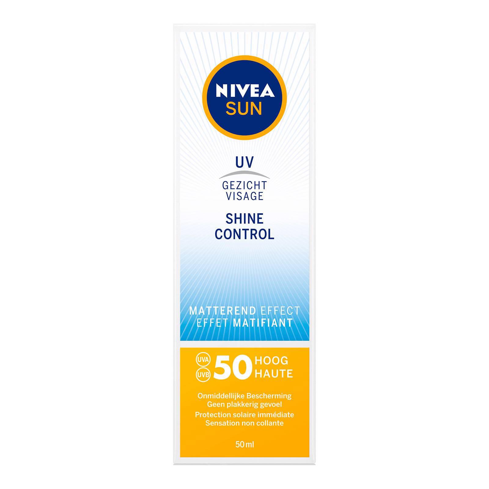 NIVEA SUN Face Shine Control Matterende Crème SPF50 50ml
