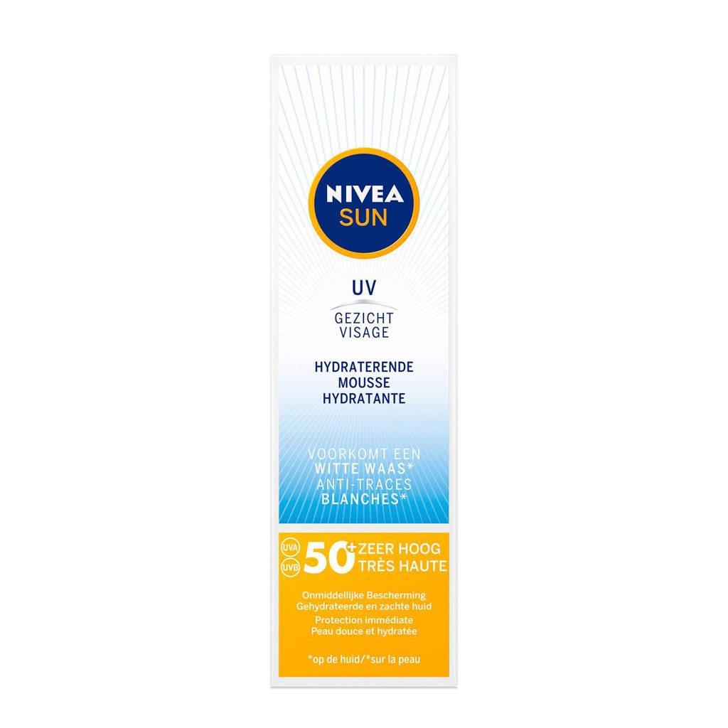 NIVEA SUN Face Matte Mousse Silky Smooth SPF50 50ml