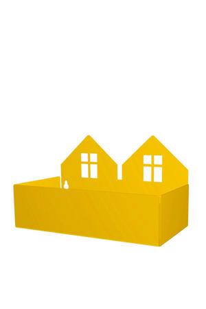 Twin house opbergbak geel