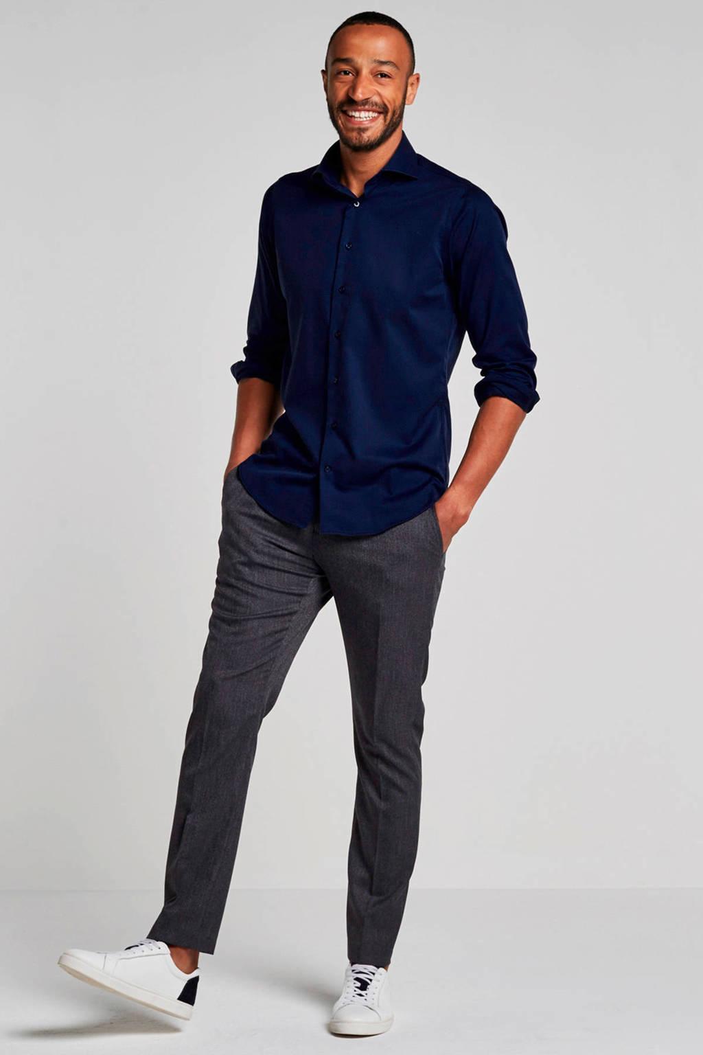 SELECTED HOMME My Lologan slim fit pantalon, Marineblauw/wit