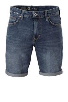 Angelo Litrico slim fit jeans short met rafels