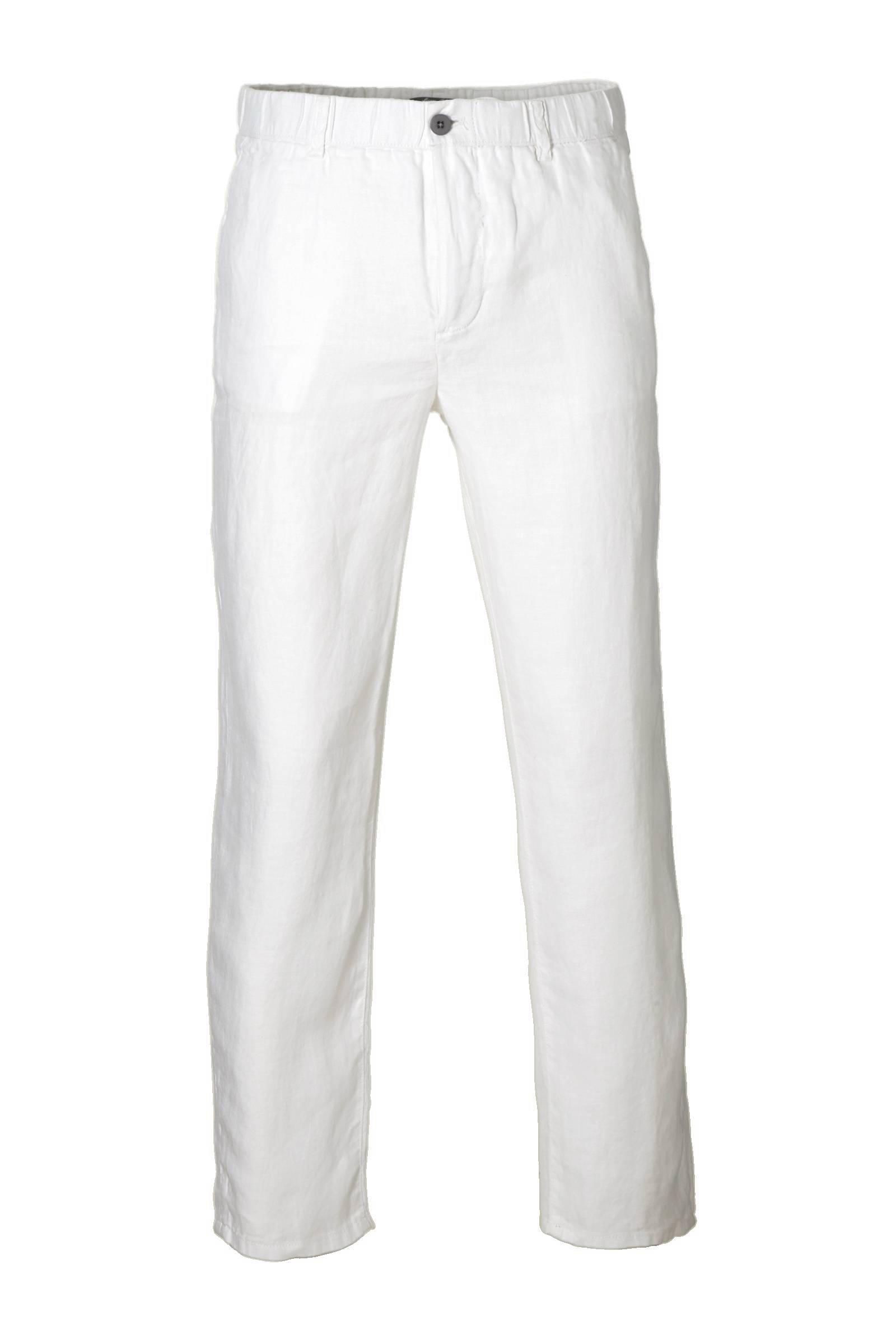 Favoriete Mango Man linnen broek wit | wehkamp &KT91