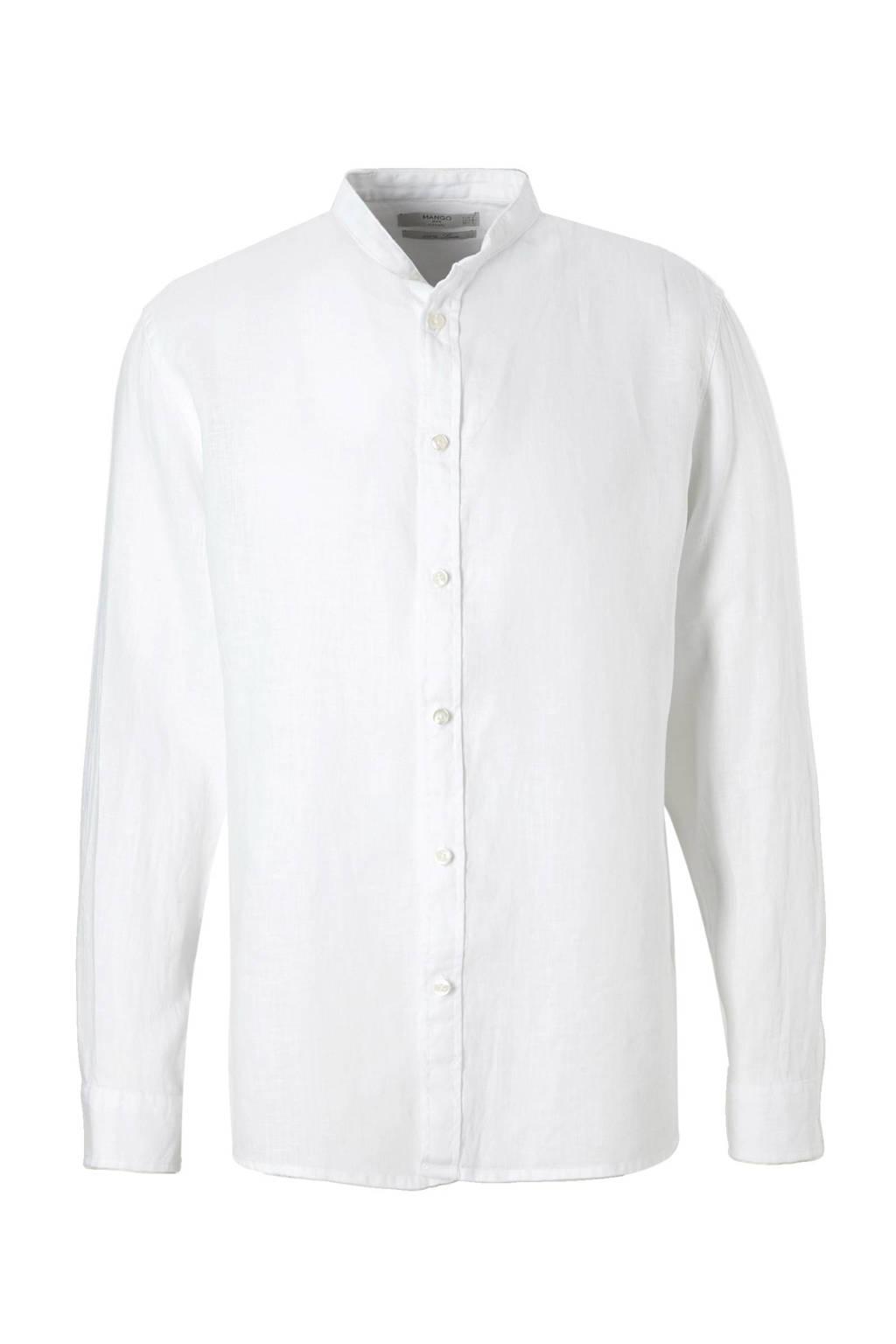 Linnen Overhemd Wit.Mango Man Linnen Overhemd Wehkamp