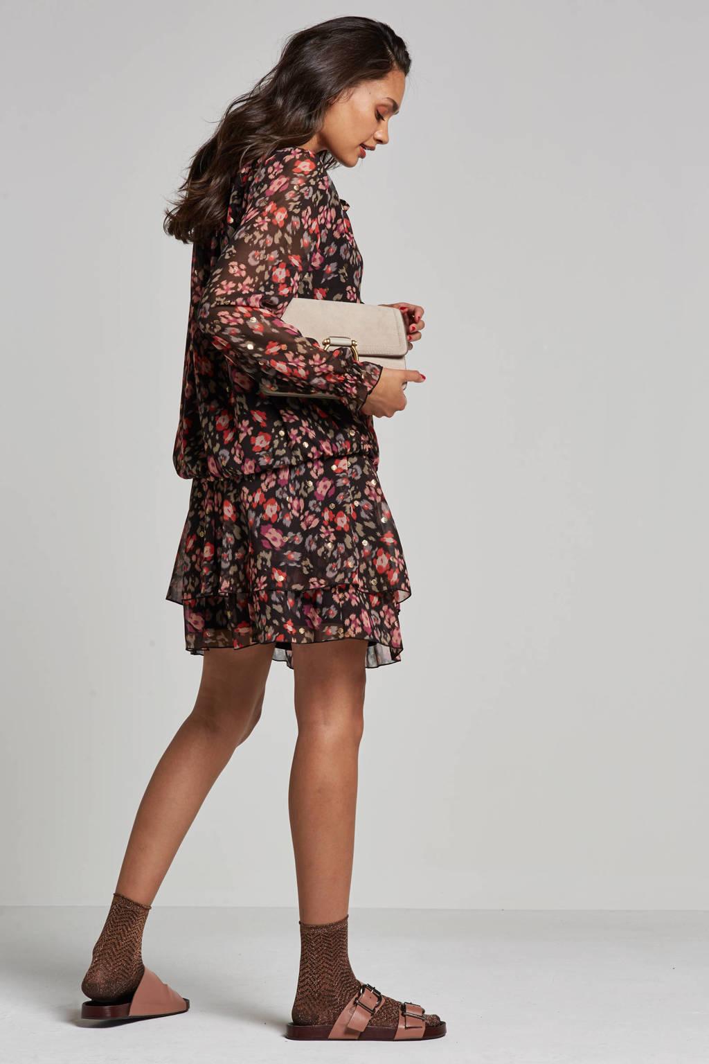 Summum Woman Fantasy top, Zwart/roze/paars