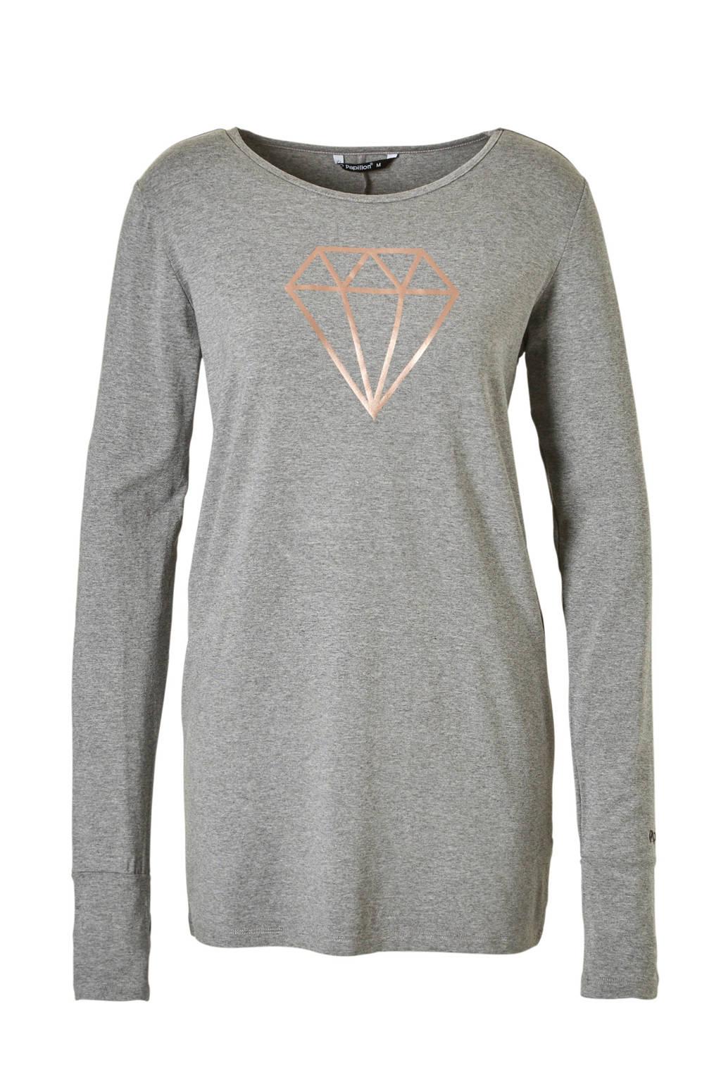 Papillon sport T-shirt grijs, Grijs