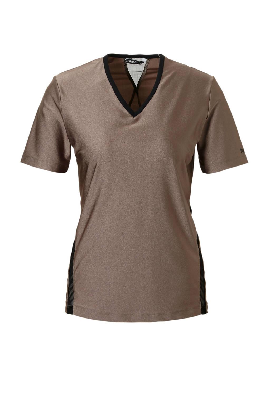 Papillon sport T-shirt brons, Brons/zwart