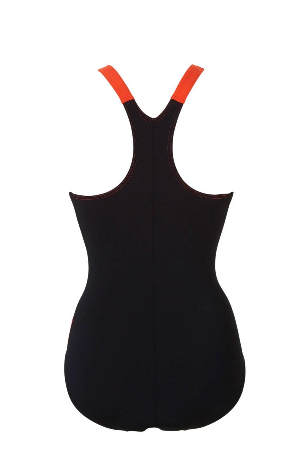 Speedo Endurance+ sportbadpak zwart/rood, Zwart/rood
