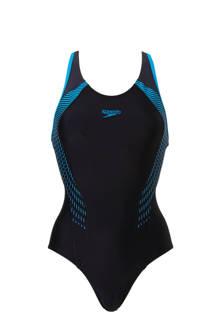 Endurance 10 sportbadpak met printopdruk zwart