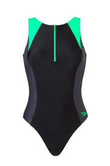 Endurance 10 sportbadpak met rits zwart