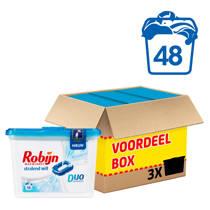 Robijn Stralend Wit wasmiddel duo capsules 3x16 wasbeurten