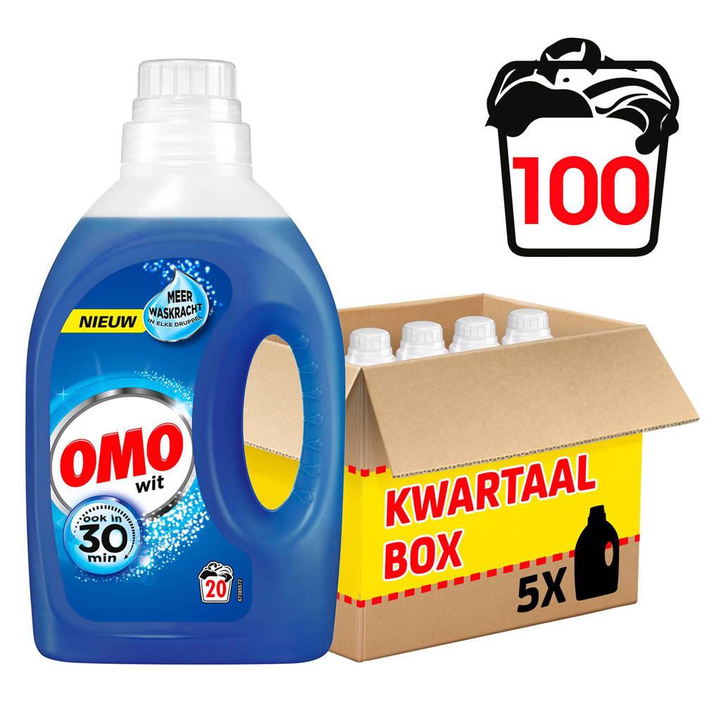 Omo wasmiddel wit - 100 wasbeurten - vloeibaar