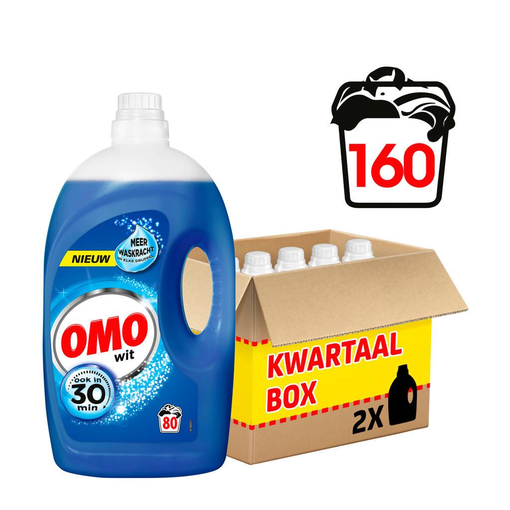 Omo wasmiddel wit - 160 wasbeurten - vloeibaar