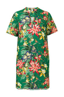 Miss Etam Plus gebloemde jurk groen (dames)