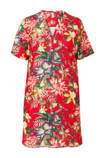 Miss Etam Plus gebloemde jurk rood (dames)