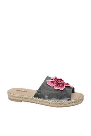 slippers met bloem