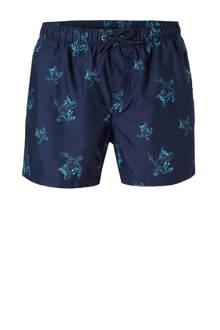 zwemshort met schildpadden donkerblauw